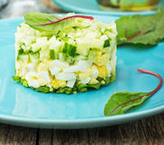 Fresh mixed salad with eggs Stock Images