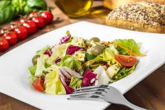 Fresh mixed salad - frischer, bunter salat Stock Photos