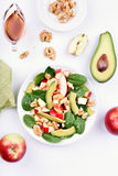 Fresh mixed salad from fruits Royalty Free Stock Images