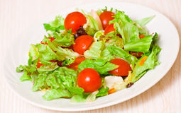 Fresh mixed salad leaves with cherry tomatoes Stock Photography