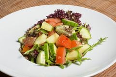 Fresh mixed salad on a plate Stock Images