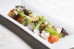 Fresh mixed salad with salmon Royalty Free Stock Photo