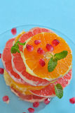 Fresh mixed slices of  fruit Royalty Free Stock Photography