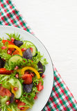 Fresh mixed vegetable salad Stock Photography