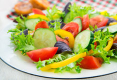 Fresh mixed vegetable salad Stock Photo