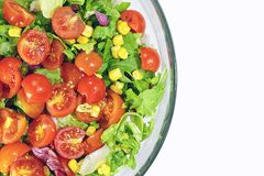 Fresh mixed vegetables in bowl. Closeup of fresh mixed vegetables in bowl stock photo