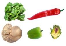 Fresh mixed vegetables. Isolated on white background stock image