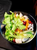 Fresh mixed vegetables salad and bright colors to eat.  stock photo