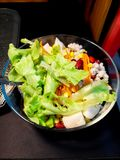 Fresh mixed vegetables salad and bright colors to eat.  royalty free stock photos