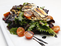 Fresh mixed vegetables salad with goat cheese Royalty Free Stock Photography