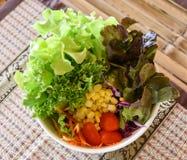 Fresh mixed vegetables salad. Organic Hydroponics vegetables royalty free stock photography