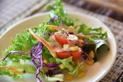Fresh mixed vegetables salad. Organic Hydroponics vegetables stock images