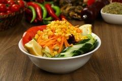 Fresh mixed vegetables salad. Selective focus stock photos
