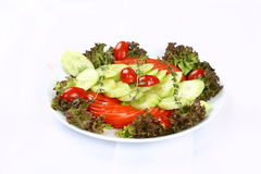 Fresh mixed vegetables salad. Selective focus stock photography