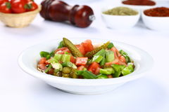 Fresh mixed vegetables salad. Selective focus royalty free stock photography