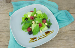 Fresh mixed vegetables salad on a table. Royalty Free Stock Photo