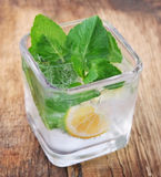 Fresh mojito closeup Royalty Free Stock Images