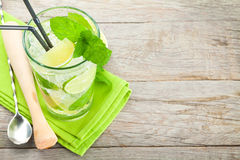 Fresh mojito cocktail and bar utensils Royalty Free Stock Photo