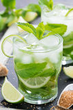 Fresh mojito cocktail, close-up Stock Photo