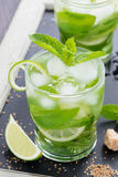 Fresh mojito cocktail in a glass Stock Image
