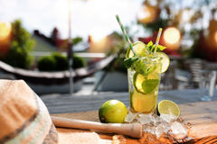 Free Fresh Mojito Cocktail In Summer Stock Photos - 93543703