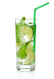 Fresh mojito cocktail isolated royalty free stock photography