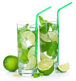 Fresh mojito cocktail isolated Stock Photo