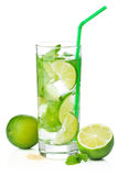 Fresh mojito cocktail isolated Stock Photos