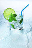 Fresh mojito cocktail with lime Royalty Free Stock Photography