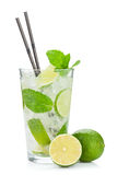 Fresh mojito cocktail and limes Stock Photo