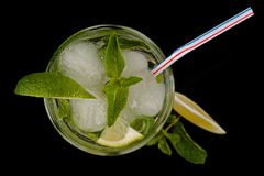Fresh mojito cocktail top view Royalty Free Stock Photography