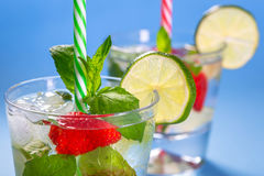 Fresh mojito cocktails Stock Photos
