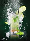 Fresh mojito drink with liquid and drift Royalty Free Stock Image