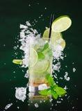 Fresh mojito drink with liquid splash Royalty Free Stock Photo