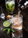 Fresh mojito drinks Stock Image