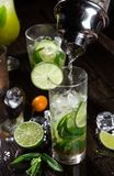 Fresh mojito drinks Stock Images