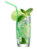 Fresh mojito isolated on white. Royalty Free Stock Photography