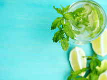 Fresh mojito with mint Royalty Free Stock Photo