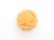 Fresh moon cake. On white background royalty free stock photography
