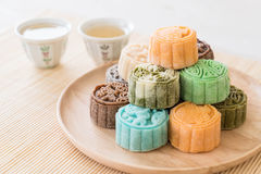 fresh moon cake Stock Photos