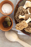 Fresh morel mushrooms Royalty Free Stock Photo