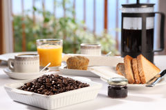Fresh Morning Coffee At Breakfast Royalty Free Stock Image