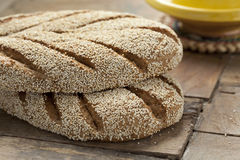 Fresh Moroccan semolina bread Stock Image