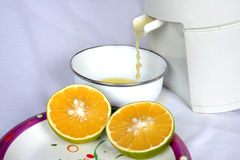 Fresh mosambi  juice Stock Photo