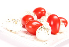 Fresh mozzarella cheese Royalty Free Stock Photos