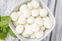 Fresh Mozzarella (close-up shot) Stock Photography
