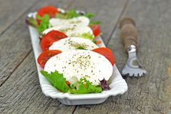 Fresh Mozzarella Salad Stock Photo