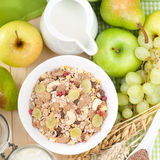 Fresh muesli Royalty Free Stock Image