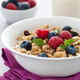 Fresh muesli with fruits Stock Images