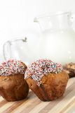 Fresh muffins Stock Images